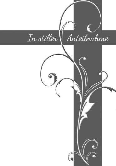 Ansicht 3 - Kondolenzkarte Blumenkreuz