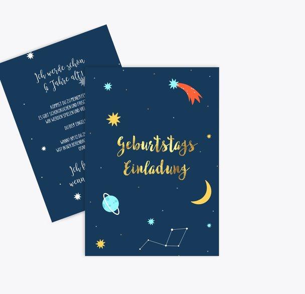 Einladung Kindergeburtstag Space Party
