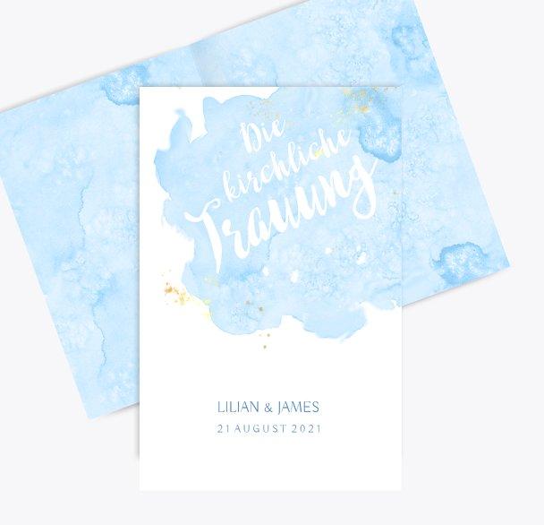 Hochzeit Kirchenheft Umschlag Wolke Sieben