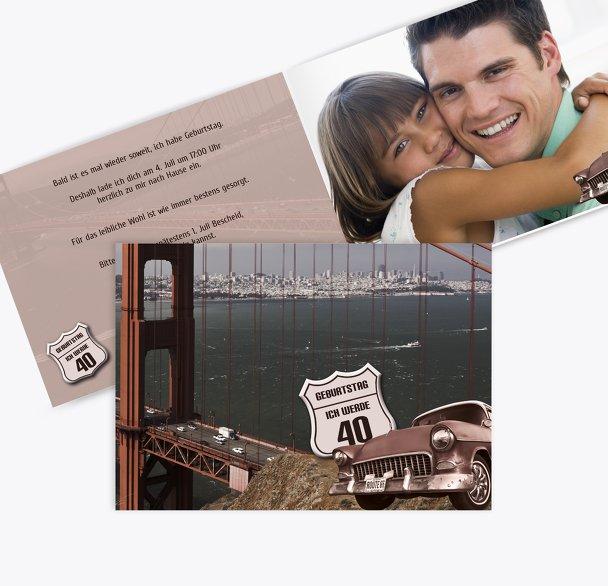 Geburtstagskarte old bridge 40 Foto