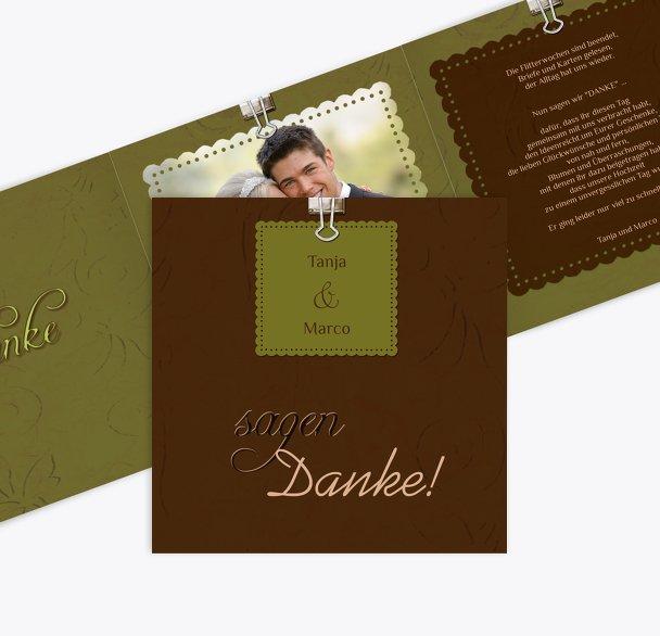 Hochzeit Dankeskarte Liebesnachricht