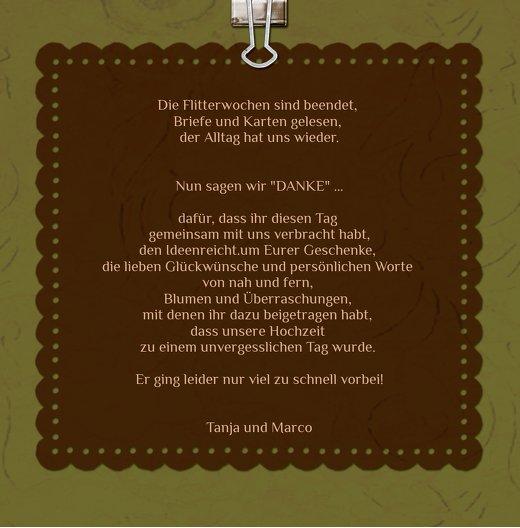 Ansicht 7 - Hochzeit Dankeskarte Liebesnachricht