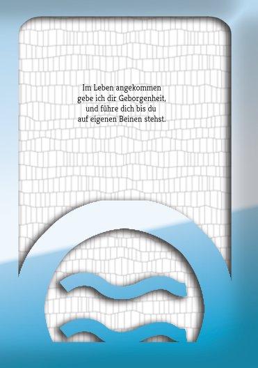Ansicht 5 - Taufkarte Taufsymbolrahmen