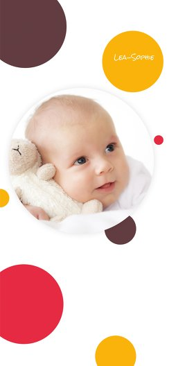 Ansicht 3 - Babykarte Kleckse