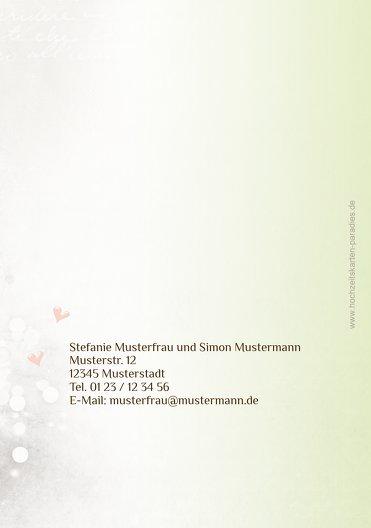 Ansicht 2 - Hochzeit Einladung Eheringe Perlen