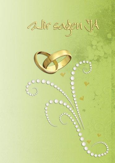 Ansicht 3 - Hochzeit Einladung Eheringe Perlen