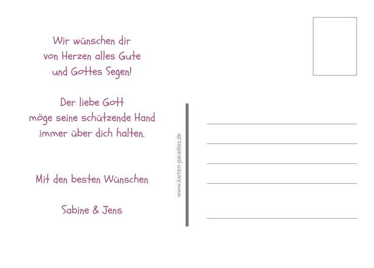 Ansicht 3 - Glückwunschkarte zur Konfirmation Blatt