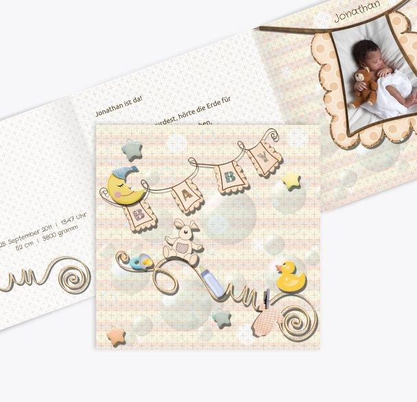 Geburtskarte Babyelements