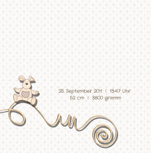 Ansicht 5 - Geburtskarte Babyelements