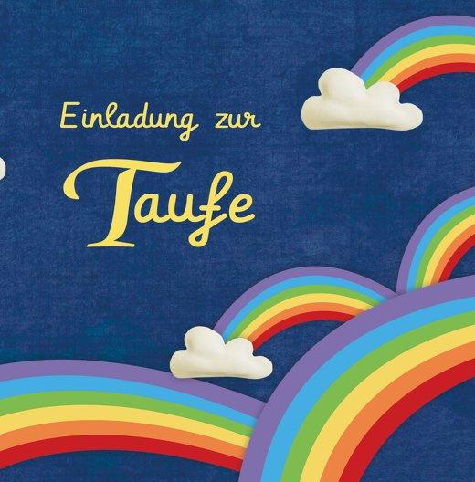 Ansicht 3 - Taufkarte Regenbogenfantasie