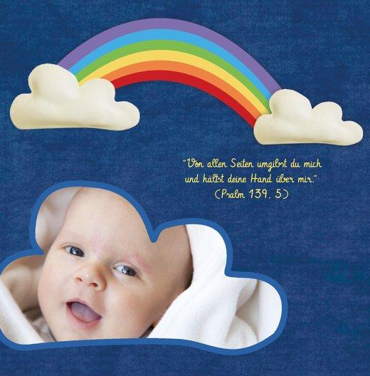 Ansicht 4 - Taufkarte Regenbogenfantasie
