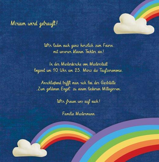 Ansicht 5 - Taufkarte Regenbogenfantasie