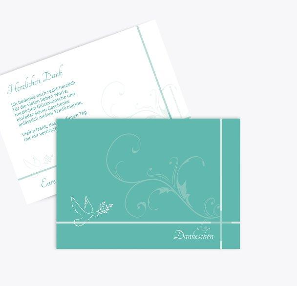 Konfirmation Dankeskarte floral