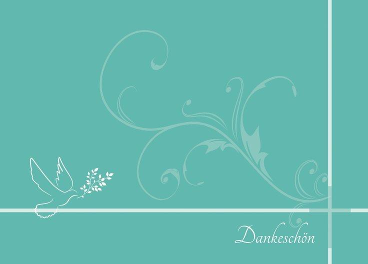 Ansicht 2 - Konfirmation Dankeskarte floral