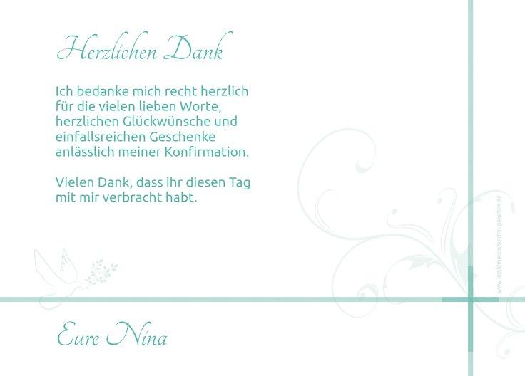 Ansicht 3 - Konfirmation Dankeskarte floral