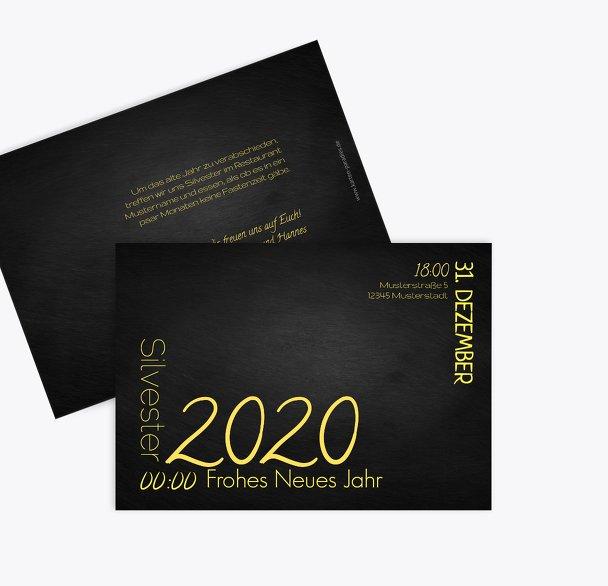 Neujahrskarte Wortkarussell