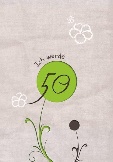 Ansicht 3 - Geburtstagskarte Fantasyflower 50 Foto