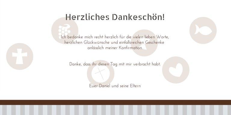 Ansicht 5 - Konfirmation Danke stripes-buttons