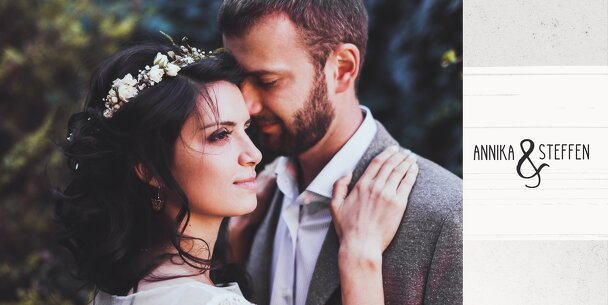 Ansicht 4 - Hochzeit Dankeskarte Bouquet