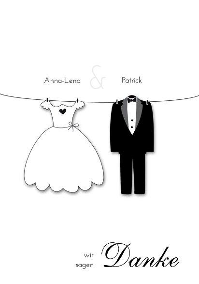 Ansicht 3 - Hochzeit Dankeskarte dress and suit