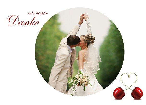 Ansicht 4 - Hochzeit Dankeskarte Kirsche