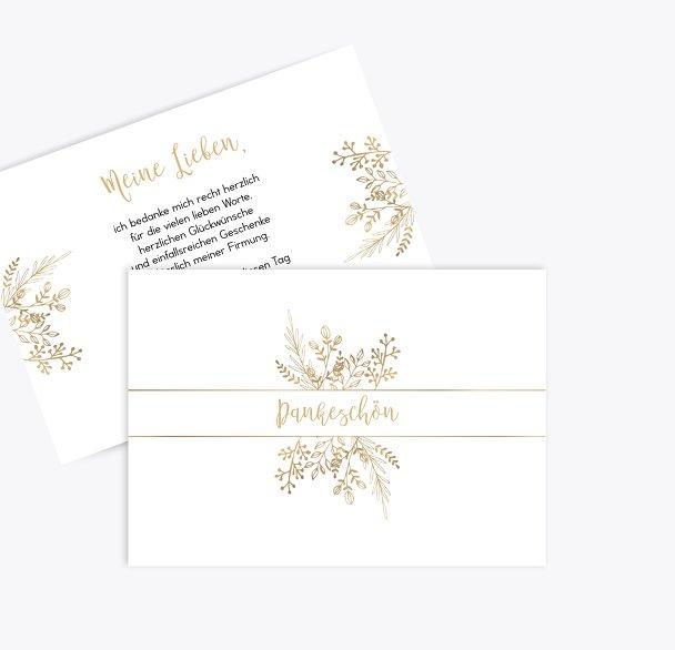 Firmung Danksagungskarte Goldblüte