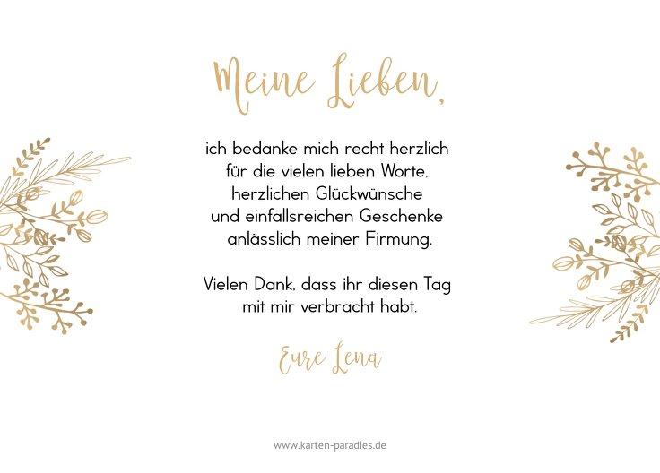 Ansicht 3 - Firmung Danksagungskarte Goldblüte
