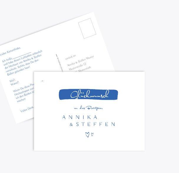 Hochzeit Ballonkarte Buchstabenrätsel