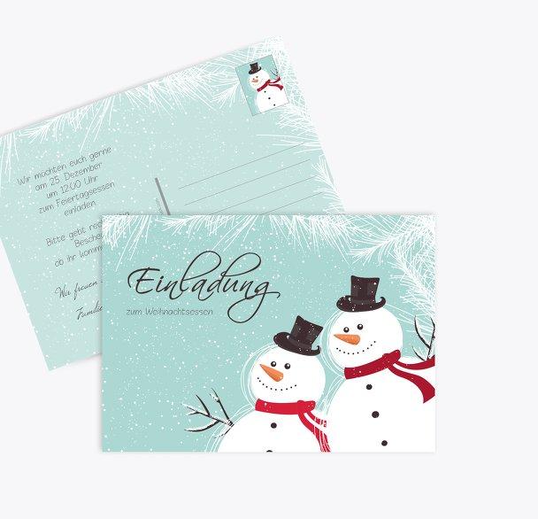 Einladung Schneemänner