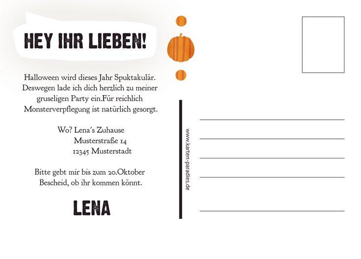 Ansicht 3 - Halloweenkarte Kürbisköpfe