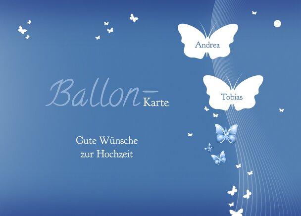 Ansicht 2 - Hochzeit Ballonkarte Traumpaar