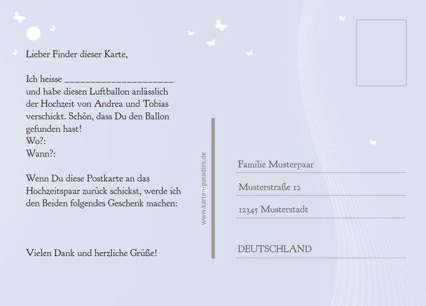 Ansicht 3 - Hochzeit Ballonkarte Traumpaar