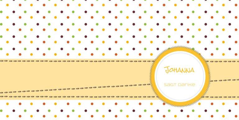 Ansicht 3 - Baby Dankeskarte Pünktchen