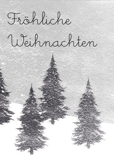 Ansicht 3 - Foto Grußkarte Winterwald