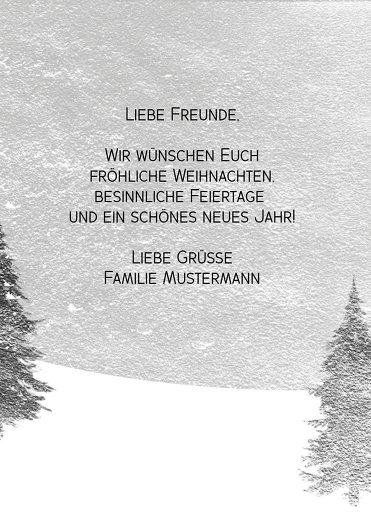 Ansicht 5 - Foto Grußkarte Winterwald
