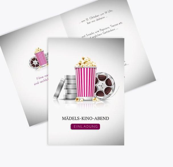 Geburtstagseinladungen Kinoabend