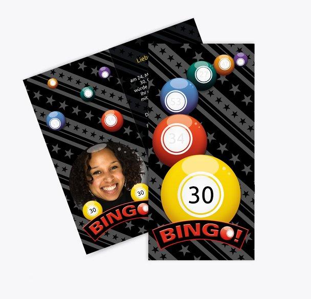 Einladung zum Geburtstag Bingo 30 Foto