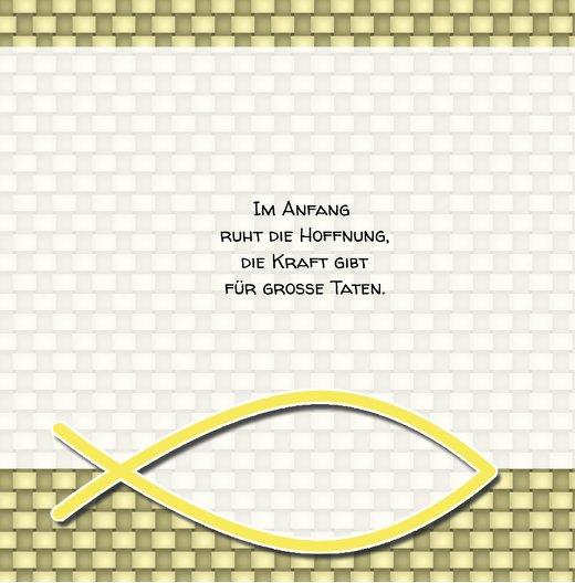 Ansicht 2 - Taufkarte Jesusfisch