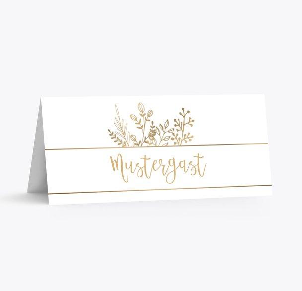 Tischkarte Goldblüte