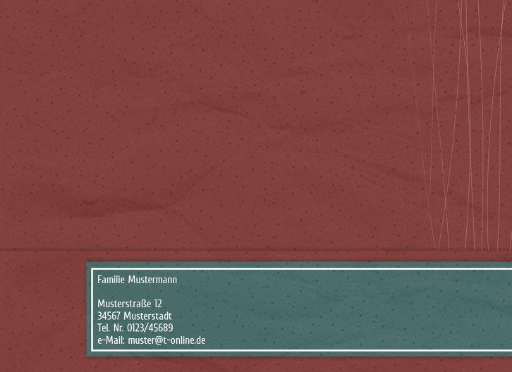 Ansicht 2 - Grußkarte Foto Moderne Kugeln