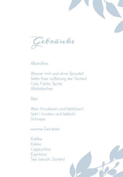 Ansicht 4 - Hochzeit Menükarte Blauregen