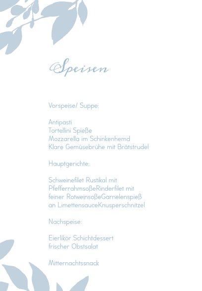 Ansicht 5 - Hochzeit Menükarte Blauregen
