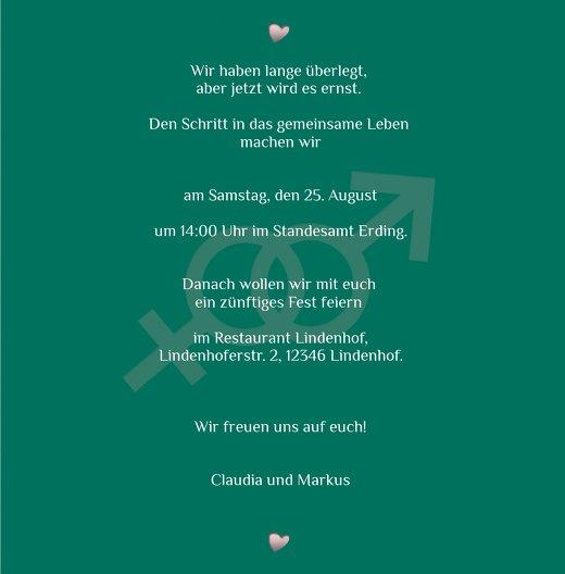 Ansicht 5 - Einladung Im Zeichen der Liebe