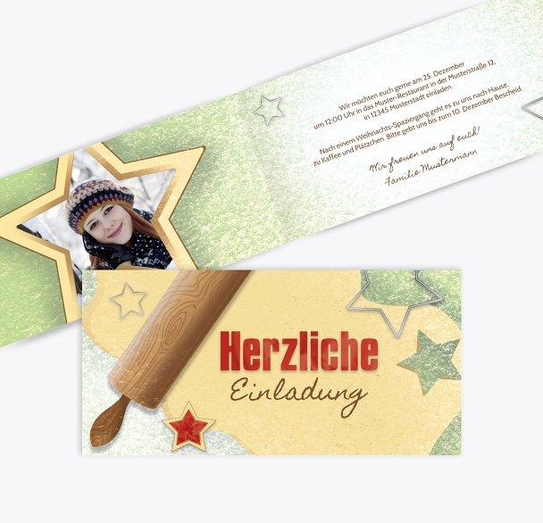 Foto Einladung Plätzchenteig