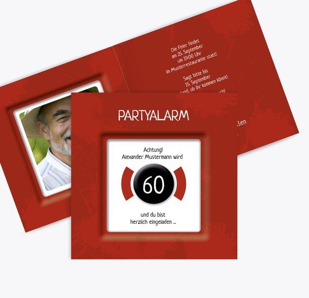 Geburtstagskarte Partyalarm 60 Foto