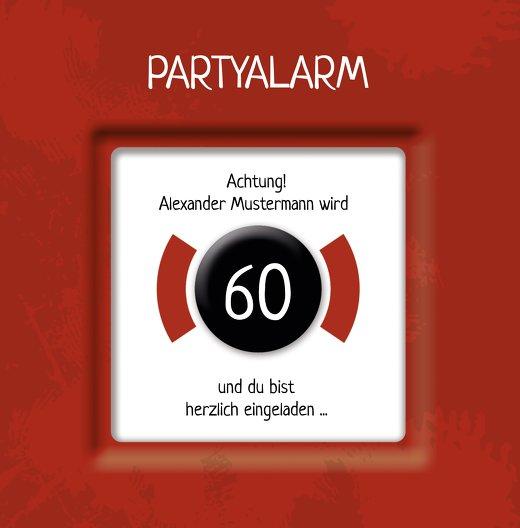 Ansicht 3 - Geburtstagskarte Partyalarm 60 Foto