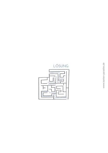 Ansicht 2 - Einladung Einschulung Schule Labyrinth