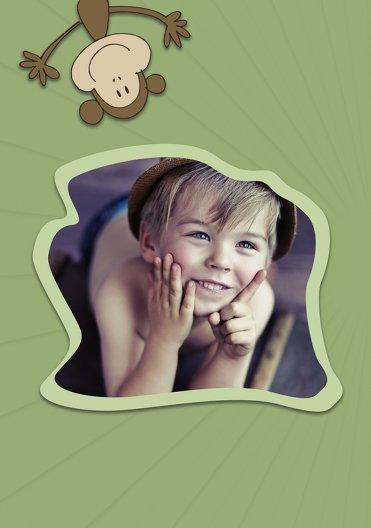 Ansicht 4 - Einladung zum Kindergeburtstag Foto Affenparty