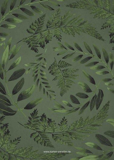 Ansicht 3 - Hochzeit Dankeskarte Blätterwerk