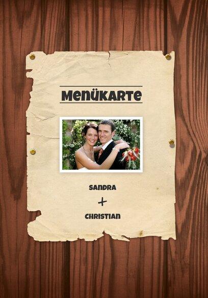 Ansicht 3 - Hochzeit Menükarte Steckbrief